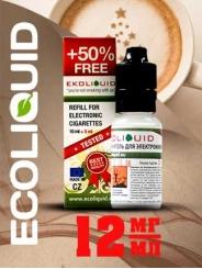 Жидкость для электронных сигарет EcoLiquid Латте, 15 мл, никотин 12 мг/мл