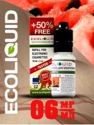 Жидкость для электронных сигарет EcoLiquid Арбуз, 15 мл, никотин 06 мг/мл