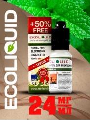 Жидкость для электронных сигарет EcoLiquid Ментол, 15 мл, никотин 24 мг/мл