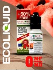 Жидкость для электронных сигарет EcoLiquid Арбуз, 15 мл без никотина
