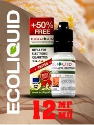 Жидкость для электронных сигарет EcoLiquid Мятная дыня, 15 мл, никотин 12 мг/мл